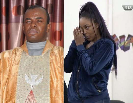 Watch Father Mbaka Predict A BBN Housemate losing out of the N85M Win Because of her sporadic Anger Issues 1