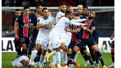 Photo of Neymar and four other players banned over PSG brawl as LFP investigates racism allegations