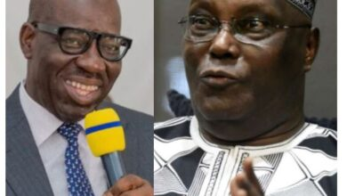 """Photo of """"The End of Godfatherism Has Come"""" Atiku says as he urges Ize-Iyamu to work with Obaseki and let go of the """"leprous hand he is now holding"""""""