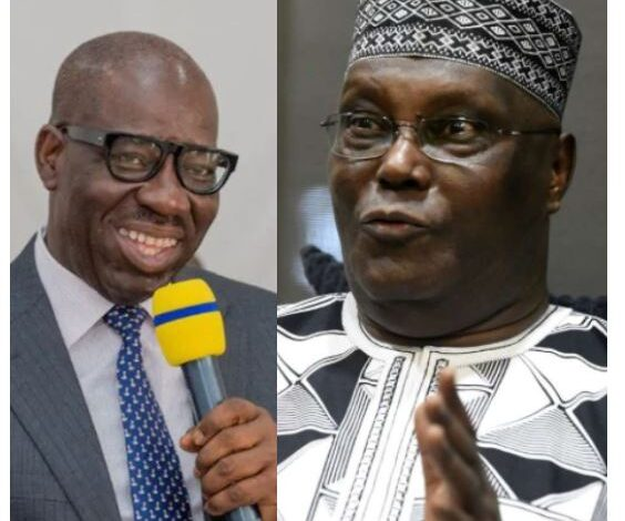 """""""The End of Godfatherism Has Come"""" Atiku says as he urges Ize-Iyamu to work with Obaseki and let go of the """"leprous hand he is now holding"""" 1"""