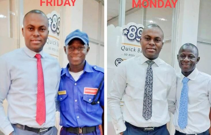 Banker narrates how he was able to help elevate a security guard to a better position in the bank 1