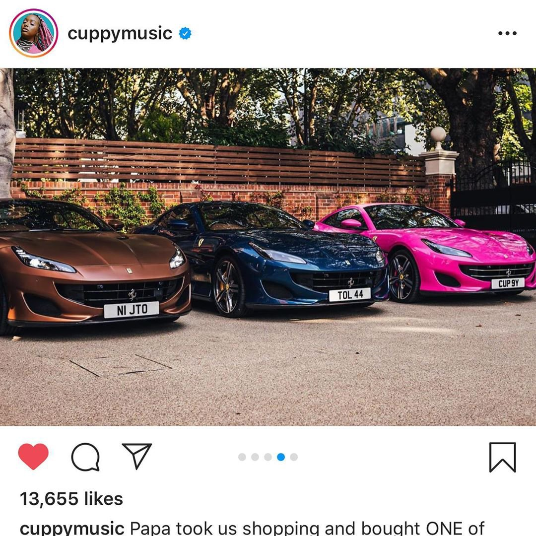 Femi Otedola takes his daughters shopping, buys Ferraris for each of them (Photos) 10