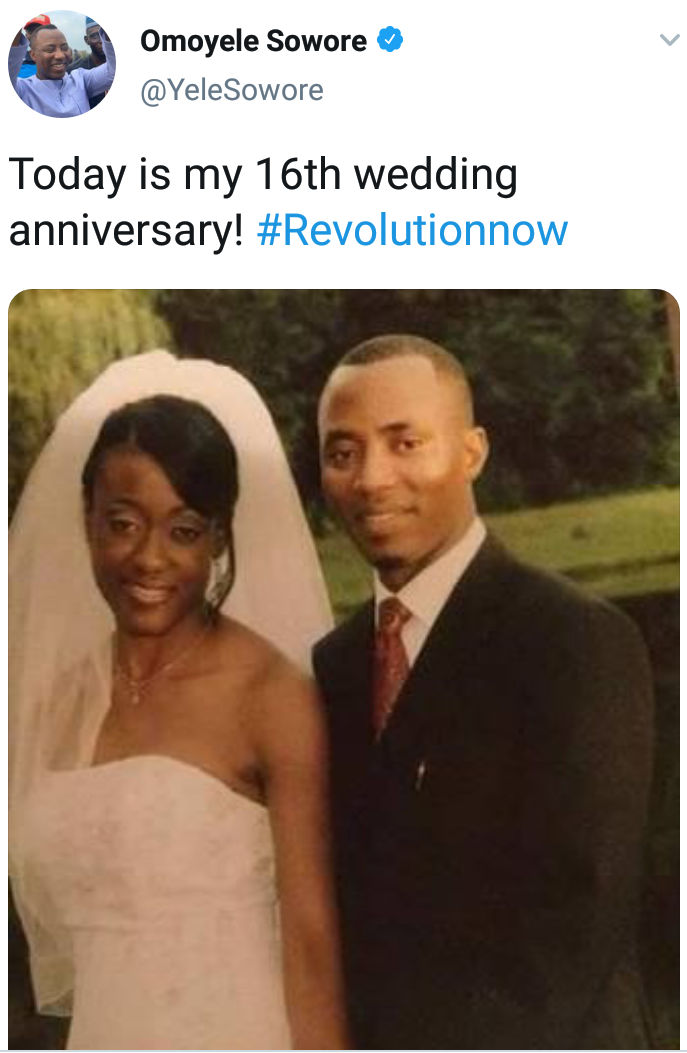 Sowore, wife celebrate 16th wedding anniversary 4