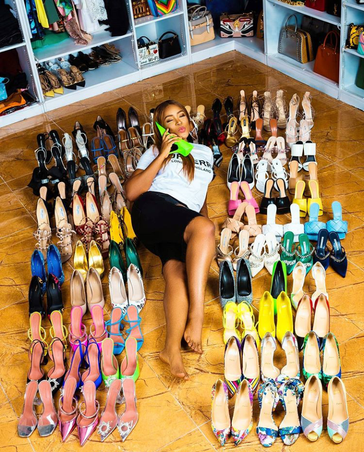 Linda Ikeji buys 85 Pairs of Designer Shoes and 35 Bags as she celebrates her 40th Birthday (Photos) 6