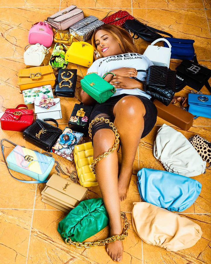 Linda Ikeji buys 85 Pairs of Designer Shoes and 35 Bags as she celebrates her 40th Birthday (Photos) 7