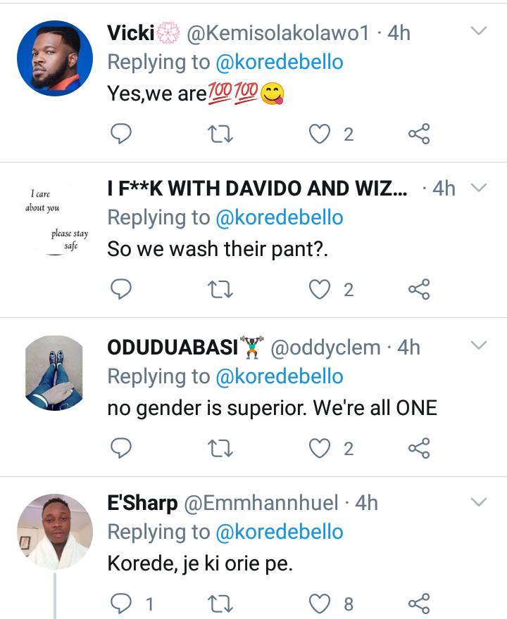 Women are the superior gender - Singer, Korede Bello 7