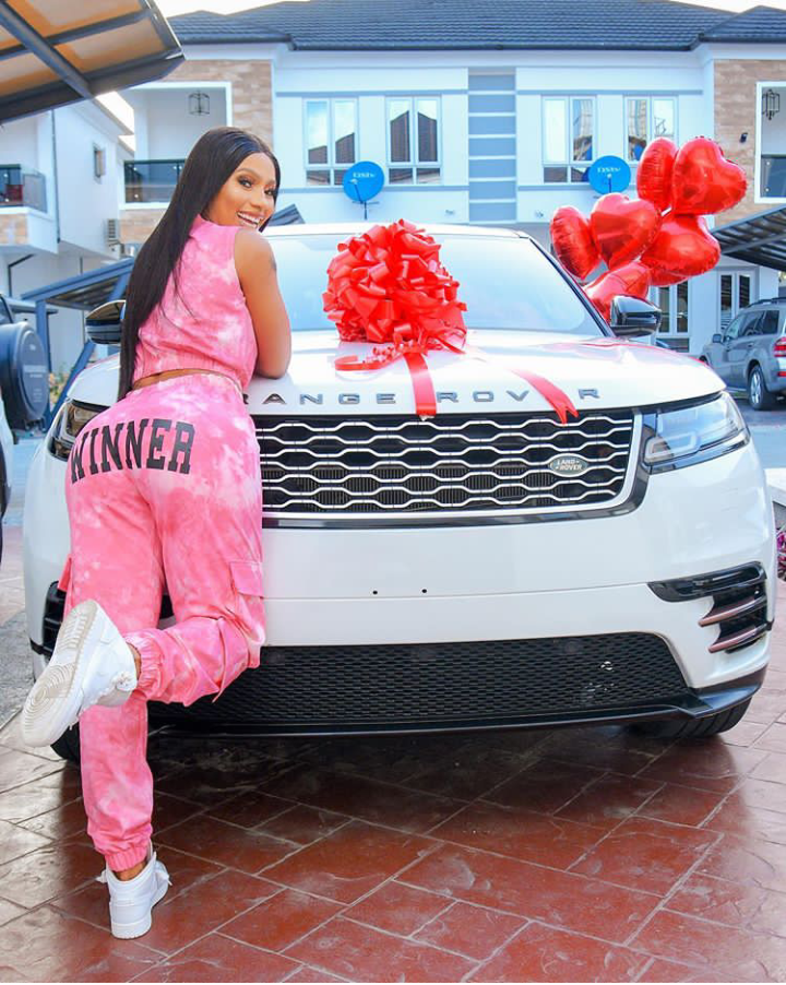 BBNaija season 4 Winner, Mercy Eke gifts herself a Range Rover Velar as she turns 27 (Photos) 6