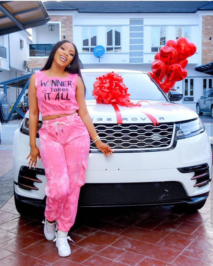 BBNaija season 4 Winner, Mercy Eke gifts herself a Range Rover Velar as she turns 27 (Photos) 7
