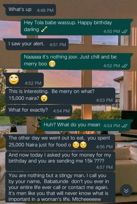 Lady Blasts her Boyfriend for gifting her N15, 000 to celebrate her Birthday (Photo) 6