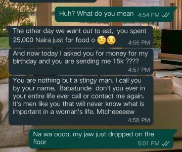Lady Blasts her Boyfriend for gifting her N15, 000 to celebrate her Birthday (Photo) 7