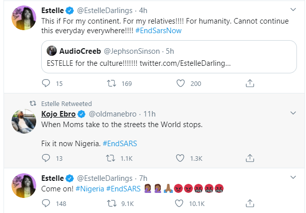 Trey Songz, Big Sean, Chance The Rapper, Estelle, Nasty C and other International celebrities react to the #EndSARS protest 16