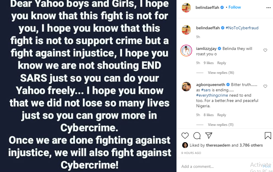 When we are done fighting injustice, we will come for you - Actress Belinda Effah tells internet fraudsters 4