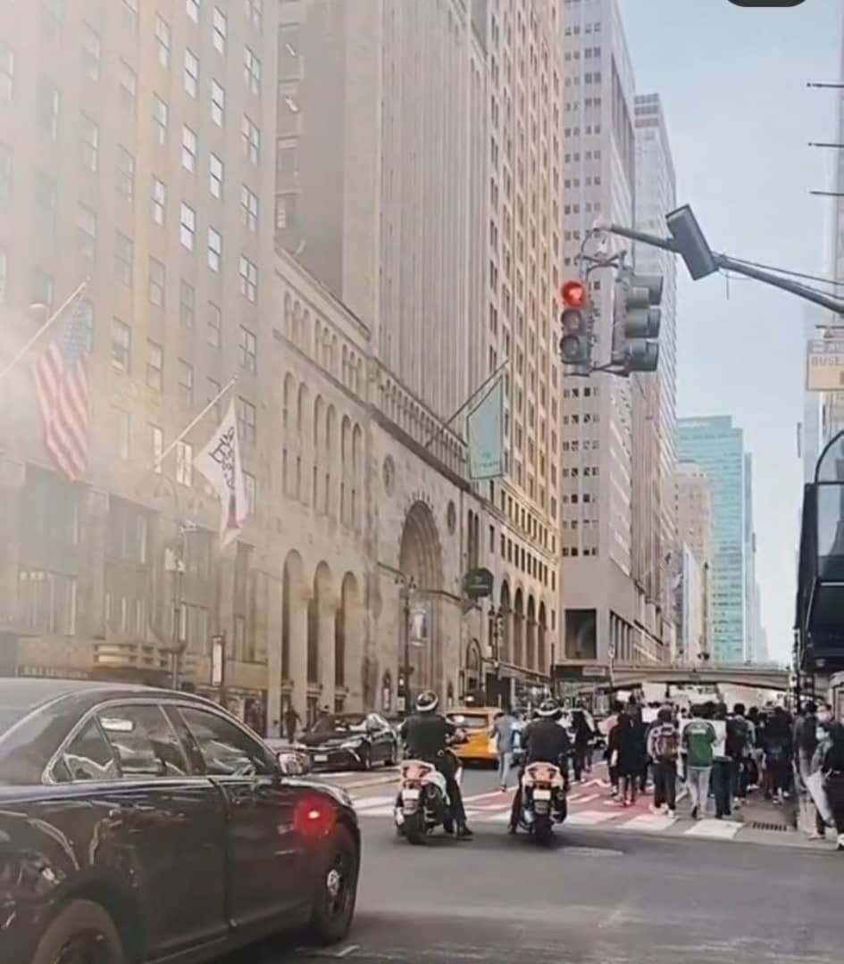 Nigerians in New York stage EndSARS protest (Photos) 12