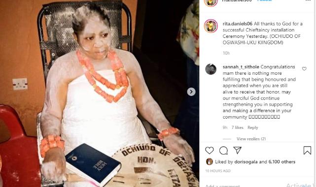 Regina Daniels' mom, Rita Daniels obtains chieftaincy title (Photos) 5