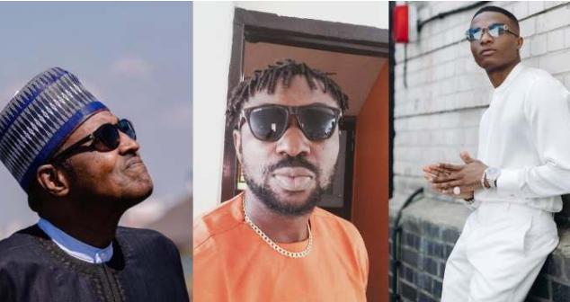 'Children of nowadays' – Black Face attacks Wizkid for Challenging Buhari 1