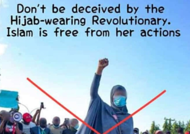 Muslim Man condemns Aisha Yesufu for partaking in EndSARS protest says it is un-Islamic (Photo) 3