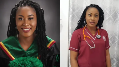 Photo of Nigerian lady bags 3 degrees, becomes doctor, pharmacist years after being told girl child can't be great