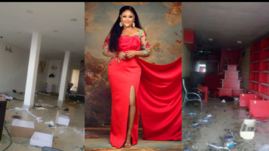 """Photo of """"They took all my years of hardwork"""" – Uche Elendu laments looting of her store by Hoodlums (photos)"""