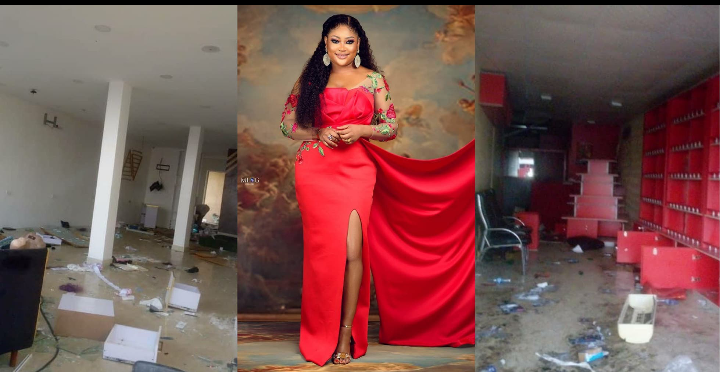 """""""They took all my years of hardwork"""" – Uche Elendu laments looting of her store by Hoodlums (photos) 9"""