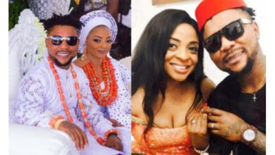 Photo of Oritsefemi offers public apology to his wife, Nabilla; asks Nigerians to beg her after she packed out amid accusations of physical abuse