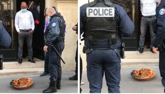 French police shocked after 'ritual sacrifice' is placed in front of the Nigerian Embassy in France 1