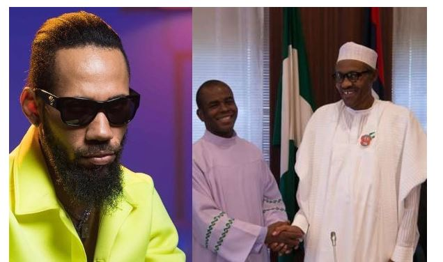 God told you Nothing - Phyno calls out Fr. Mbaka over past claim that God told him President Buhari is a 'prayer answered' 1