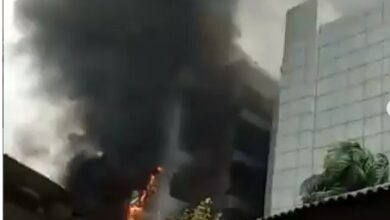 Photo of Nigerian Ports Authority Headquarters in Lagos has been set on fire (video)