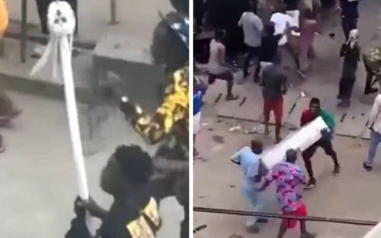 Photo of Oba of Lagos Palace attacked and looted; staff of office stolen (videos)
