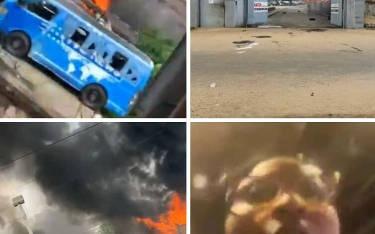 Mob invades TVC premises, set cars and other properties on fire (photos/video) 1