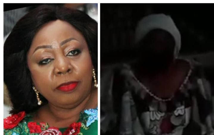 I know we have wronged you, please forgive us-Senator Florence Ita-Giwa begs protesting C/Rivers residents on her Knees (video) 1