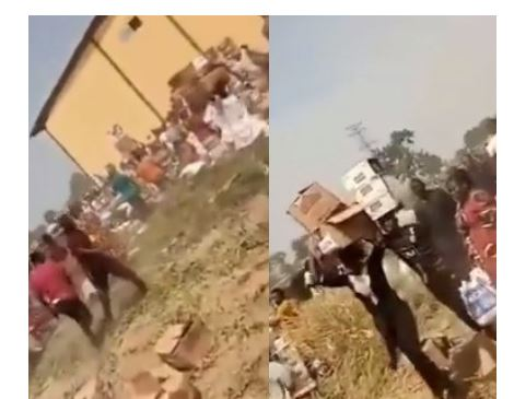 'Come and collect free food' - Looters shout as they cart away palliatives stored in Adamawa govt warehouse (video) 1