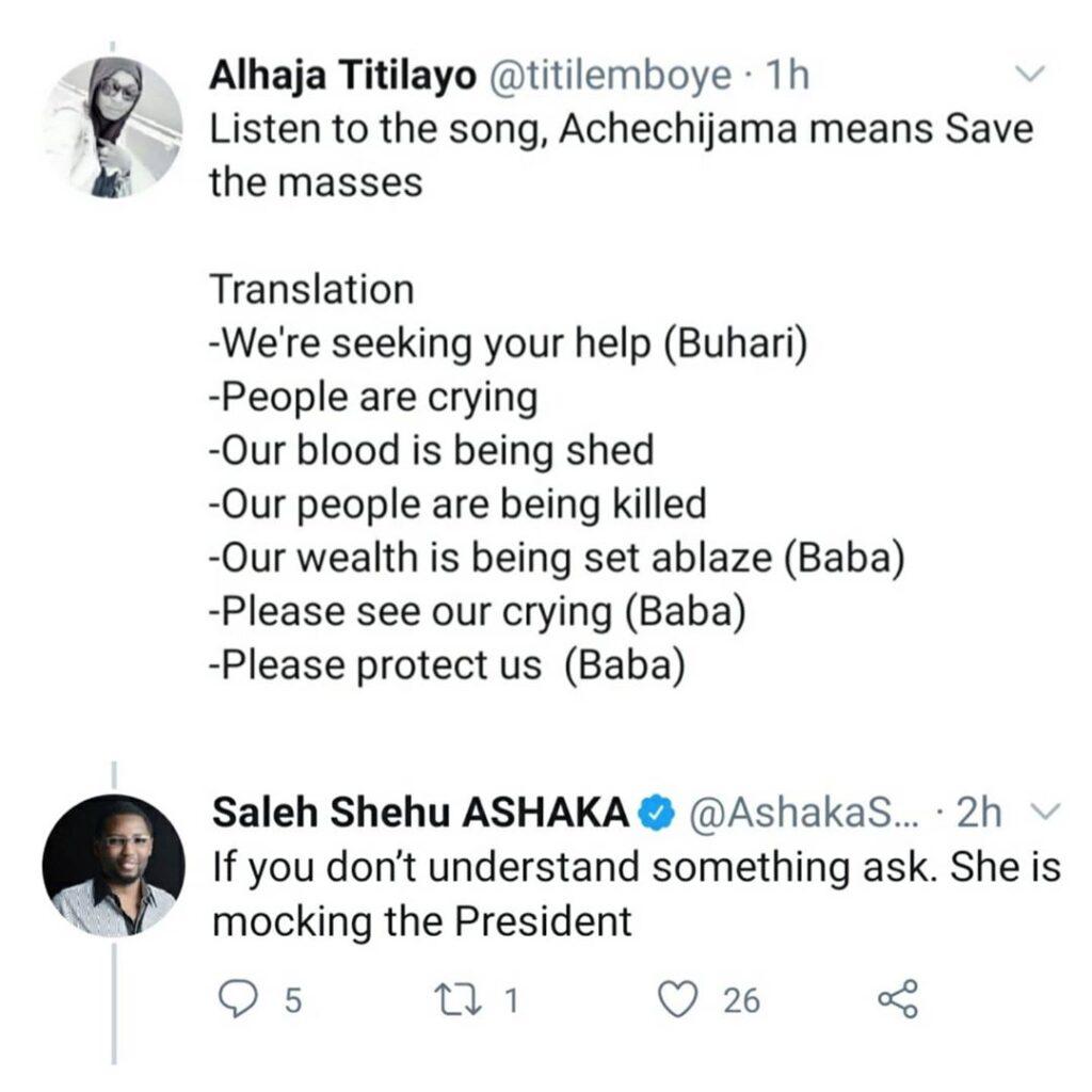 'Save the people'- Aisha Buhari tells President Buhari and the service chiefs (video) 4