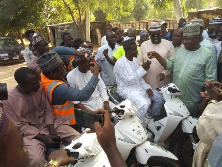 Ganduje's aide shares donkey and other items to empower Kano youths 4