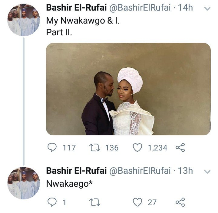 Bashir El-rufai releases pre-wedding photos with his bride-to-be named 'Nwakaego' 4