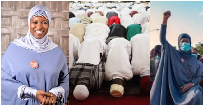 "EndSARS protest: ""Remove your Hijab""- Muslims tell Aisha Yesufu (Photos) 11"