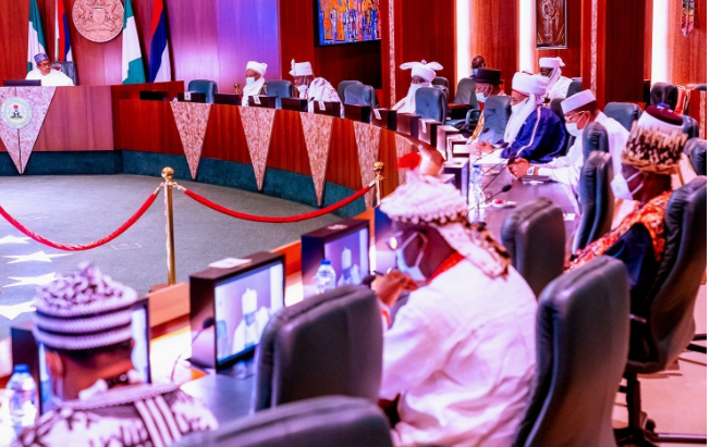 """""""We cannot allow anybody or group sabotage our efforts for peace"""" - Buhari tells Traditional leaders 1"""