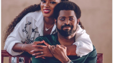 Photo of I'm glad you didn't give up on me after I gave you a wrong number – Basket Mouth's wife says as they celebrate 10th wedding anniversary (Photos)
