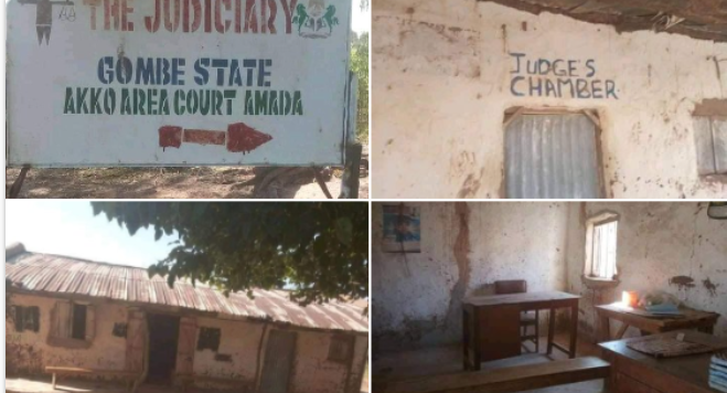 Photos of an alleged courtroom in Nigeria goes viral 9