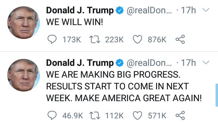 "US Election: ""We will win"" - Trump declares 4"