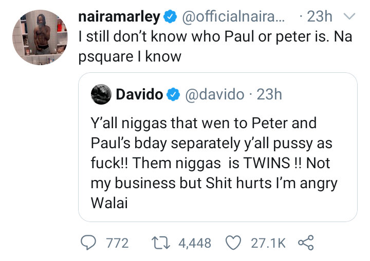 """I know P-Square not Peter or Paul"" - Naira Marley 4"
