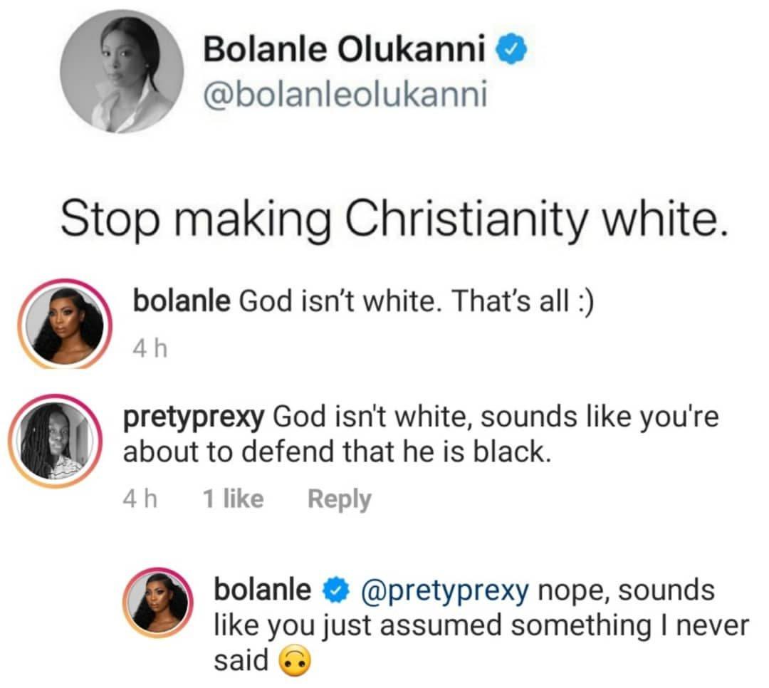 Stop making Christianity white, God isn't white – Bolanle Olukanni 4