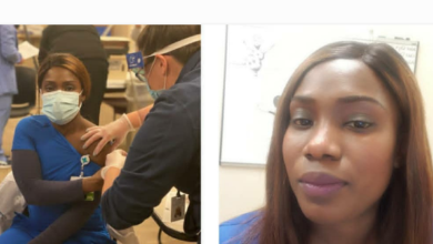 """Photo of """"Don't be hesitant. Take the vaccine"""" – Nigerian-US doctor says after taking Covid-19 vaccine"""