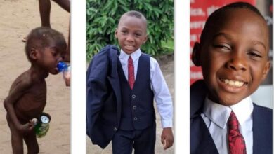 Photo of Little boy who was branded a witch and left to starve to death 5 years ago, becomes best man at a wedding in Akwa Ibom