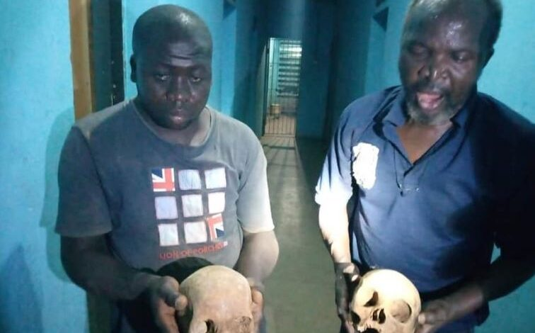 Photo of Two suspected ritualists nabbed with human skulls at Muslim cemetery in Kaduna