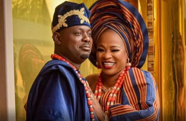 """Photo of """"I won't leave him even if he gets every woman Pregnant"""" – Actor Kunle Afod's Wife, Desola"""