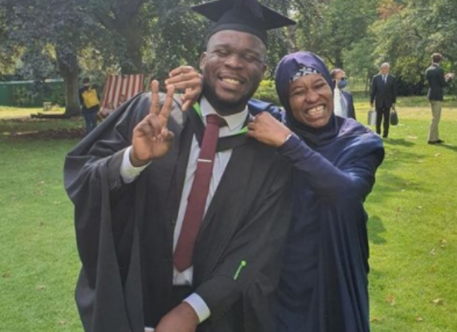 Photo of Aisha Yesufu celebrates as dyslexic son graduates (photos)